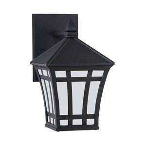 Herrington Black 6-Inch One-Light Outdoor Wall Lantern