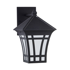 Herrington Black 7-Inch One-Light Outdoor Wall Lantern