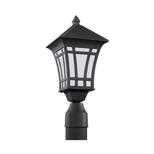 Herrington Black 7-Inch One-Light Outdoor Post Lantern