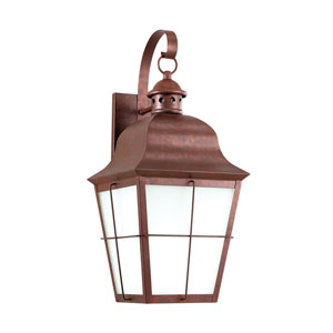 Chatham Weathered Copper 9-Inch One-Light Outdoor Wall Lantern