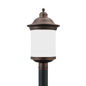 Hermitage Antique Bronze 11-Inch One-Light Outdoor Post Lantern