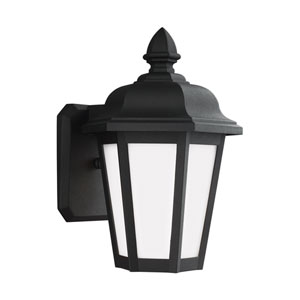 Brentwood Black 7-Inch One-Light Outdoor Wall Lantern