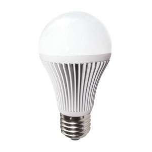 White LED Light with A19 Medium Base 3000K