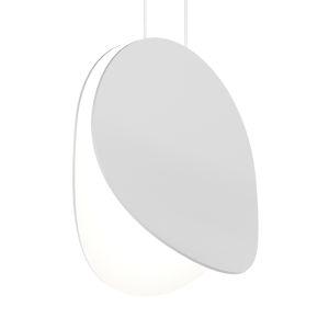 Malibu Discs Satin White 10-Inch LED Pendant