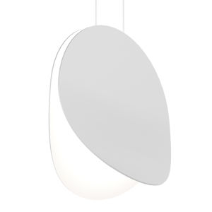 Malibu Discs Satin White 14-Inch LED Pendant