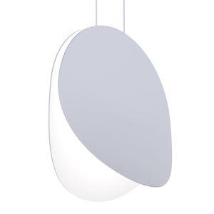 Malibu Discs Dove Gray 14-Inch LED Pendant