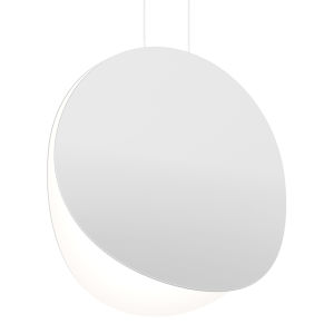 Malibu Discs Satin White 18-Inch LED Pendant