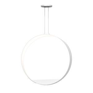 Aureola Satin White Two-Light LED Pendant