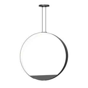 Aureola Satin Black Two-Light LED Pendant