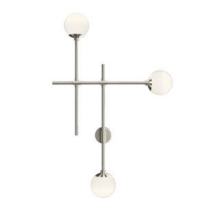 Sabon Satin Nickel Three-Light LED Triple Sconce