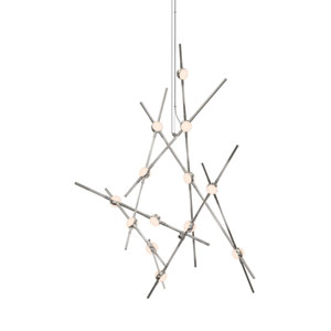 Constellation Satin Nickel LED 25-Inch Pendant