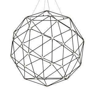 Constellation Polished Black Nickel 40-Light LED Pendant