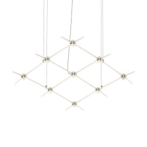 Constellation Satin Nickel 67-Inch Clear Faceted LED Pendant