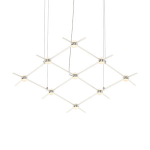 Constellation Satin Nickel 67-Inch White Optical LED Pendant