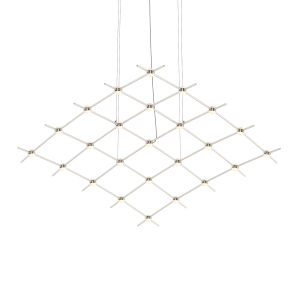 Constellation Satin Nickel 122-Inch White Optical LED Pendant