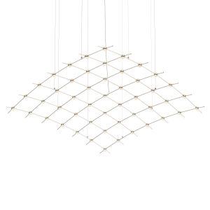 Constellation Satin Nickel 177-Inch White Optical LED Pendant