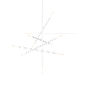 Jax Satin White 11-Light LED Pendant