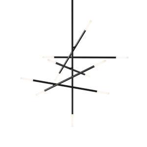 Jax Satin Black 11-Light LED Pendant