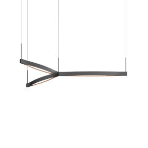 Ola Satin Black 55-Inch Tri-Star LED Pendant