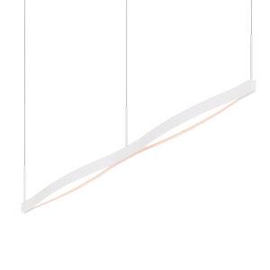 Ola Satin White 55-Inch Double Linear LED Pendant