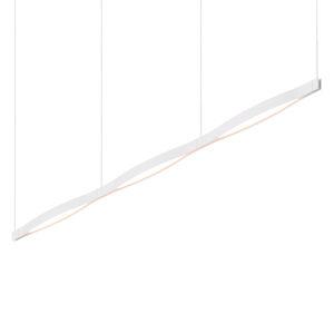 Ola Satin White 82-Inch LED Pendant