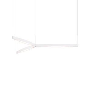 Ola Satin White 55-Inch Tri-Star LED Pendant
