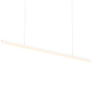 Stiletto Satin White 72-Inch LED Pendant