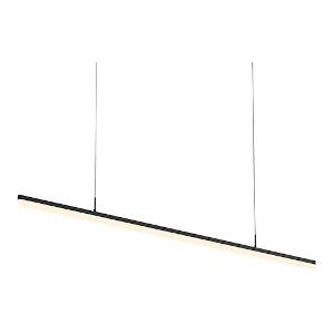 Stiletto Satin Black 72-Inch LED Pendant