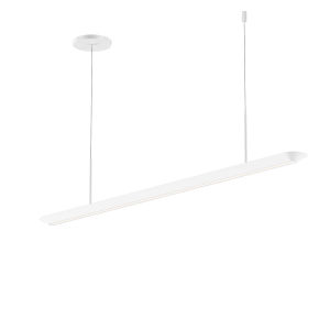 Glide Satin White 40-Inch LED Pendant