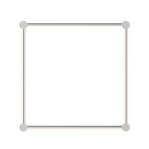 Purolinear 360 Polished Chrome 25-Inch Four-Light Square LED Wall Bar