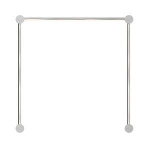 Purolinear 360 Satin Chrome 25-Inch Three-Light Single N LED Wall Bar