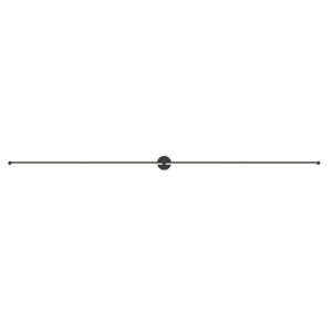Purolinear 360 Satin Black 97-Inch Two-Light Double Linear LED Wall Bar