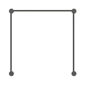 Purolinear 360 Satin Black 25-Inch Three-Light Single N LED Wall Bar