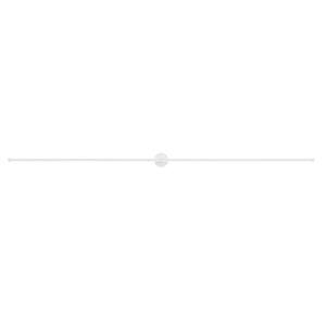 Purolinear 360 Satin White 97-Inch Two-Light Double Linear LED Wall Bar