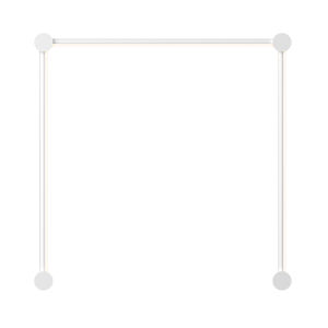 Purolinear 360 Satin White 25-Inch Three-Light Single N LED Wall Bar