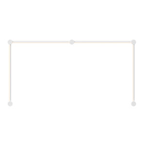 Purolinear 360 Satin White Four-Light Double N LED Wall Bar
