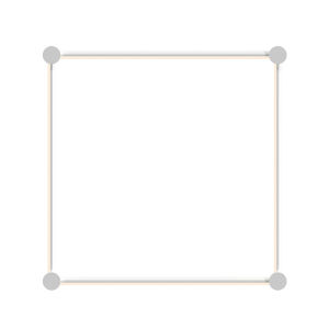 Purolinear 360 Satin White 25-Inch Four-Light Square LED Wall Bar