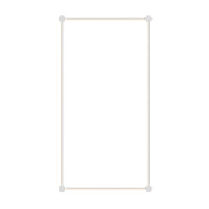 Purolinear 360 Satin White 25-Inch Two-Light Rectangle LED Wall Bar