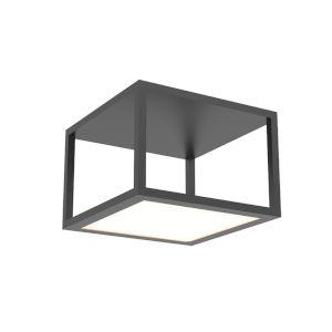 Cubix Satin Black One-Light Medium LED Flush Mount