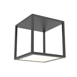 Cubix Satin Black One-Light Tall LED Flush Mount
