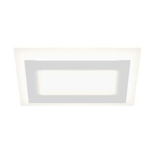 Offset Textured White 24-Inch Rectangle LED Flush Mount