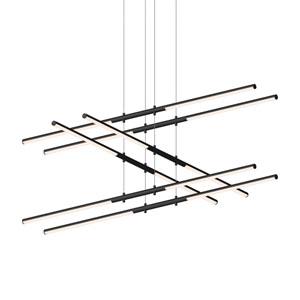 Tik-Tak Satin Black LED 47.5-Inch Pendant