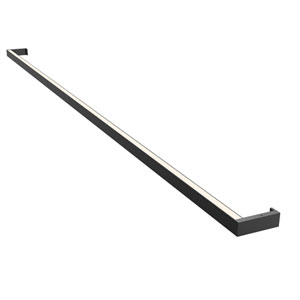 Thin-Line Satin Black LED 72-Inch Wall Bar