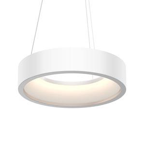 Tromme Satin White LED 18-Inch Pendant