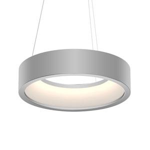 Tromme Bright Satin Aluminum LED 18-Inch Pendant