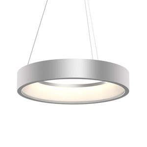 Tromme Bright Satin Aluminum LED 24-Inch Pendant
