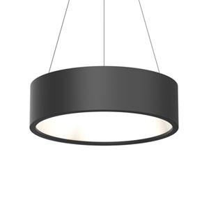 Tromme Satin Black LED 24-Inch Pendant