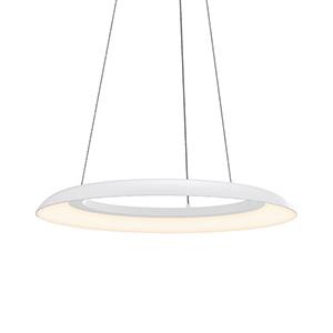 Torus Satin White 24-Inch One-Light LED Pendant