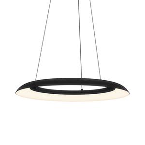 Torus Satin Black 24-Inch One-Light LED Pendant