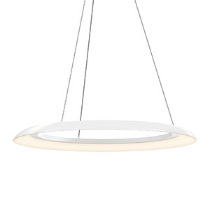 Torus Satin White 32-Inch One-Light LED Pendant